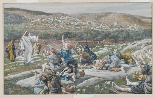 James Tissot - The Healing of Ten Lepers, 1889 - 96
