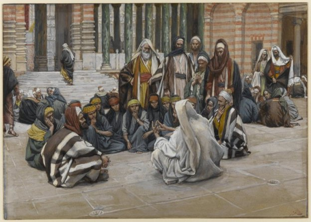 James Tissot - Jesus Speaks Near the Treasury, 1886 - 94