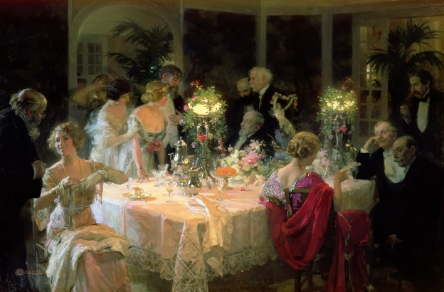 Jules-Alexandre Grün - The End of Dinner, 1913